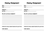 Missing Homework Assignment Slip