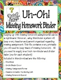 Missing Homework Binder