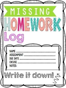 Missing Homework Binder FREEBIE