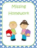 Missing Homework Chart and Cover