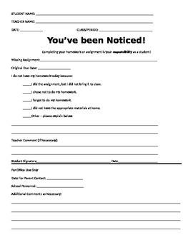 Missing Homework Document