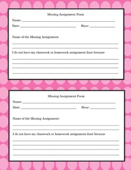 Positive Behavior Management: Missing Homework Notification