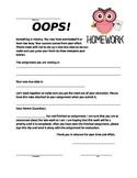 Missing Homework Form