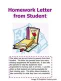 Missing Homework Letter to Parents from Students