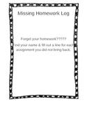 Missing Homework Log