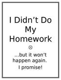 Missing Homework Log and Detention Slips- The Ominous Pink Binder *EDITABLE
