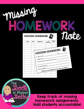 Missing Homework Note