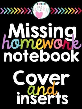 Missing Homework Notebook (Data and Organization)