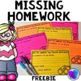 Missing Homework Notes & Tracking Sheet FREEBIE
