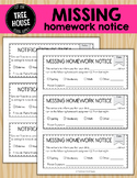 Missing Homework Notice - English and Spanish Versions