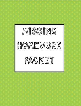 Missing Homework Packet