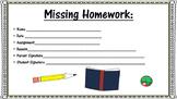 Missing Homework Signature Slip