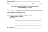 Missing Homework Slip for students