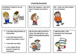 Missing Homework - Social Story Comics