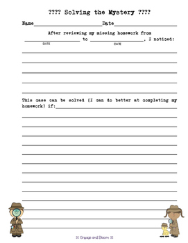 Homework Tracking with Detective Theme - Missing Homework Solved!
