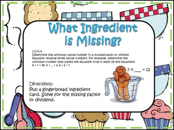 Missing Ingredient! (Missing Factors)