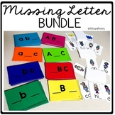 Missing Letter Activity BUNDLE to Practice Alphabet Order