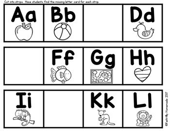 Alphabet Activity Center {Missing Letter ABC Order}