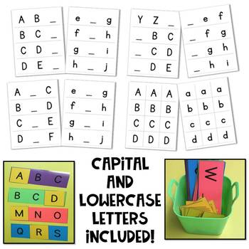 Missing Letter Cards Alphabet Hands On Activity