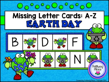 Missing Letter Cards: Earth Day