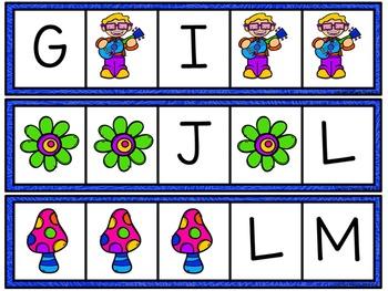 Missing Letter Cards: Flower Kids