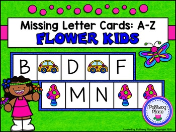 Missing Letter Cards: Flower Kids