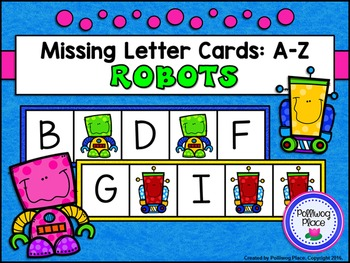 Missing Letter Cards: Robots