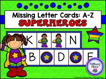 Missing Letter Cards: Superheroes