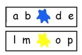 Missing Letter Cards for Playdoh Stampers