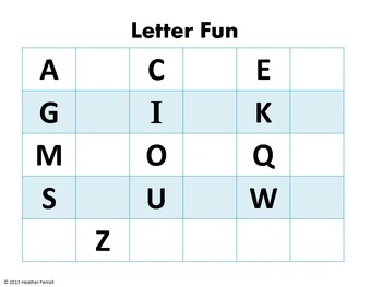 Missing Letter Fun