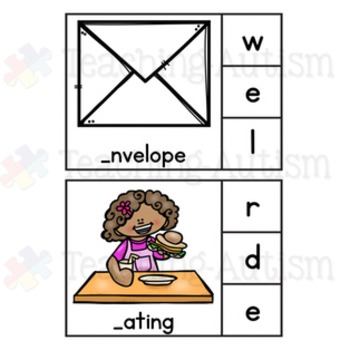 Missing Letter, Initial Letter Task Cards