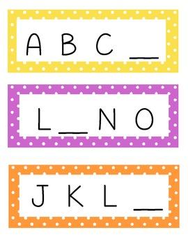 Missing Letter Missing Number