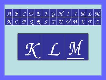 Missing Letter Power Point Set #1