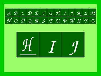 Missing Letter Power Point Set #3