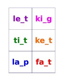 Missing Letter - Segmenting Activity