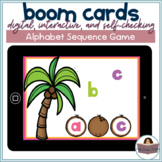 Lowercase Missing Letter Sequencing Game | BOOM Cards | Distance Learning