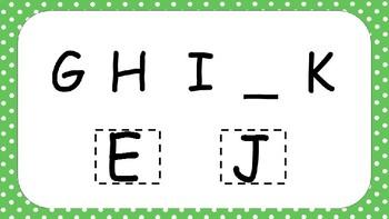 Missing Letter Uppercase