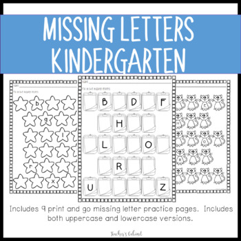 Missing Letter Worksheets {K.RF.1}