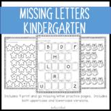 Missing Letter Worksheets {K.RF.1}