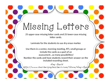 Missing Letters