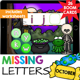 Missing Letters Alphabet Sequencing Worksheets & Boom Cards