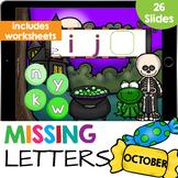 Missing Letters Alphabet Sequencing Worksheets Google Classroom Slides