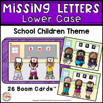 Missing Lower Case Letters - Boom Cards
