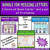 Missing Letters Bundle - Boom Cards and Worksheets