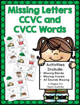 Missing Letters CCVC/CVCC Words