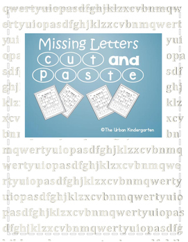 Missing Letters Cut and Paste packet