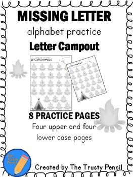 Missing Letters - Letter Campout