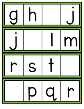 Missing Letters (Lowercase)