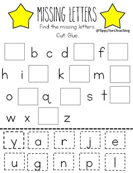 Missing Letters Lowercase