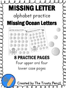 Missing Letters - Missing Ocean Letters
